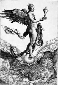 Nemesis (rreth 1502) Albrecht Dürer