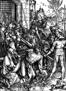 Trasportimi i kryqit (1498-1499), ksilografi nga Pasioni i Madh