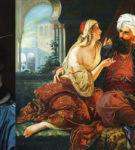 """""""Ali Pasha dhe Keyra Vasiliqia"""" pikturë e vitit 1848, kryevepra e mjeshtrit gjerman të penelit, Paul Emil Jacobs"""